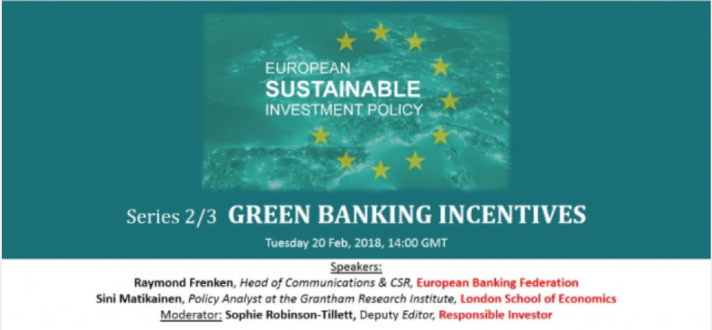 Panel del evento Green Banking Incentives