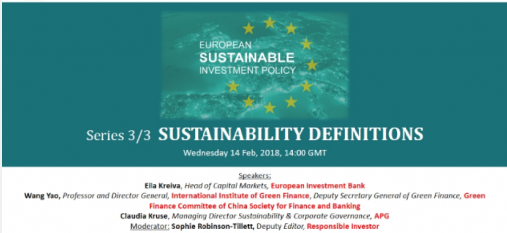 Panel webinar Sustainable Definitions