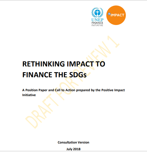 Consulta Abierta: Rethinking Impact to Finance the SDGs